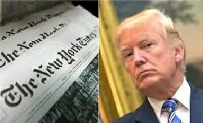 """After Years Harassing the President of the United States, Donald Trump, the Fake-News NY Times Finally Admits, the Steele Dossier Was a Lie that """"Never Materialized or Has Been Proved False"""""""